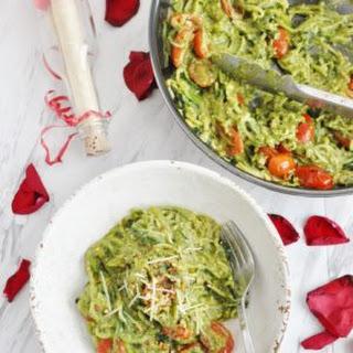 Avocado Pesto Zucchini Noodles + A Proposal.