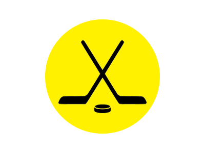 Hockey stick and puck products logo
