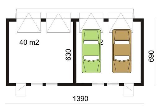 BR-193 - Rzut garażu