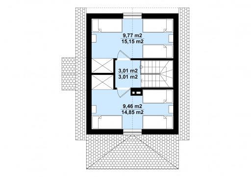 G130 - Budynek letniskowy - Rzut poddasza