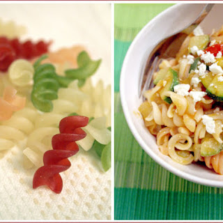 Zucchini, Tomato and Feta Cheese Sauce on Gluten-Free Pasta Recipe