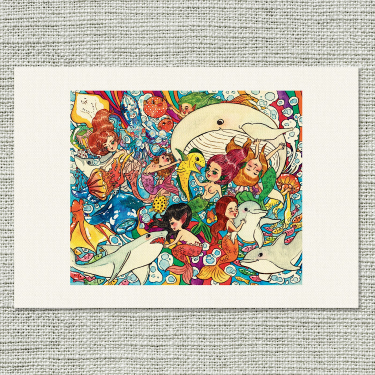 A4 Canvas Print【The Mermaid School】 by Jeovine