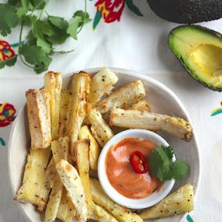 Cassava Root Fries with Smokey Tomato Dip