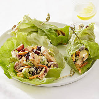 Curry Chicken Salad Lettuce Wraps.
