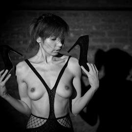 Black shoes by Michaela Firešová - Nudes & Boudoir Artistic Nude ( nude, female )