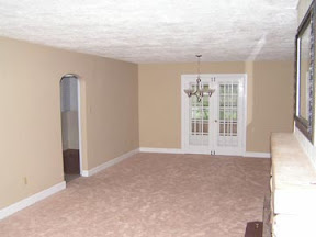 Before: Dining room, viewed from living room