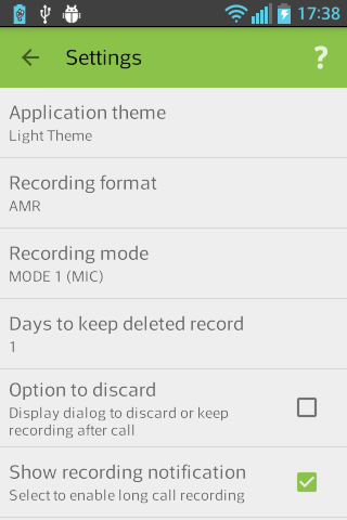 AndroRec Free Call Recorder- screenshot