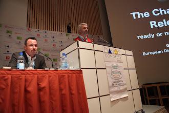 """Photo: Gianni Catalfamo presenting - """"Latest Trends for Comms Consultancies"""" Panel - 2012, Moderator - Franco Gullotti"""
