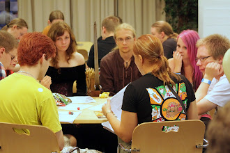 Photo: Tabletop games being played