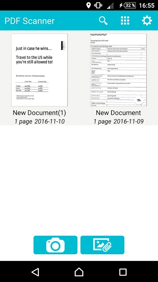 Convert JPG to PDF & Scanner- screenshot