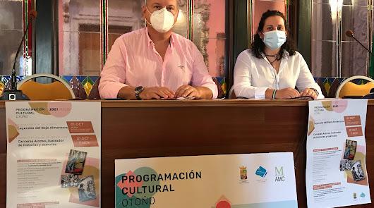 El alcalde cuevano y la edil de Cultura durante la presentación.