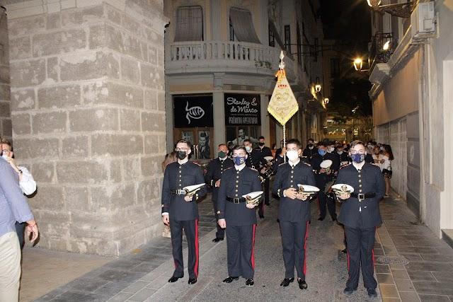 La banda de cornetas y tambores Nuestra Señora del Carmen, en la Soledad.