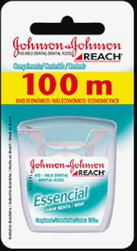 Hilo Dental REACH   JHONSON & JOHNSON Essencial Menta x100Mt