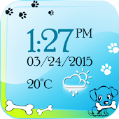 Puppy Digital Weather Clock