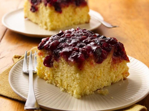 Cranberry-orange Topsy-turvy Cake Recipe