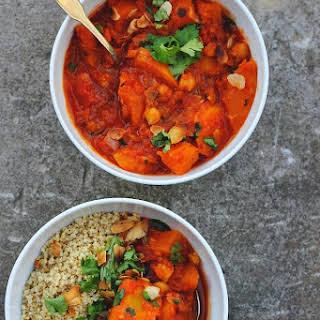 Moroccan Spiced Pumpkin + Chickpea Stew.