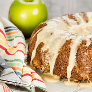 Apple Bundt Cake with Salted Caramel Glaze