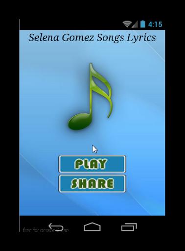 Selena Gomez Songs Lyrics