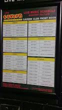 """Photo: Расписание концертов в """"Cavern"""" в Ливерпуле"""