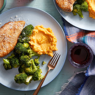 With Mashed Sweet Potatoes & Roasted Broccoli Recipe