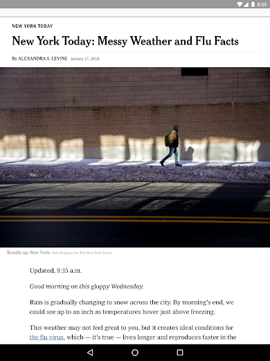 Screenshot 9 for The New York Times's Android app'