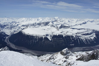 Photo: The view to the west includes the Clemenceau Icefield.