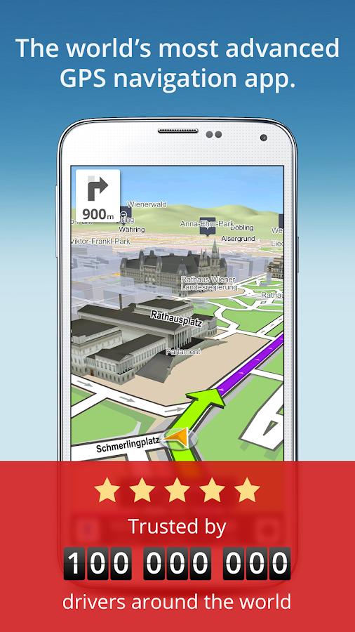 GPS Navigation & Maps Sygic- หน้าจอ