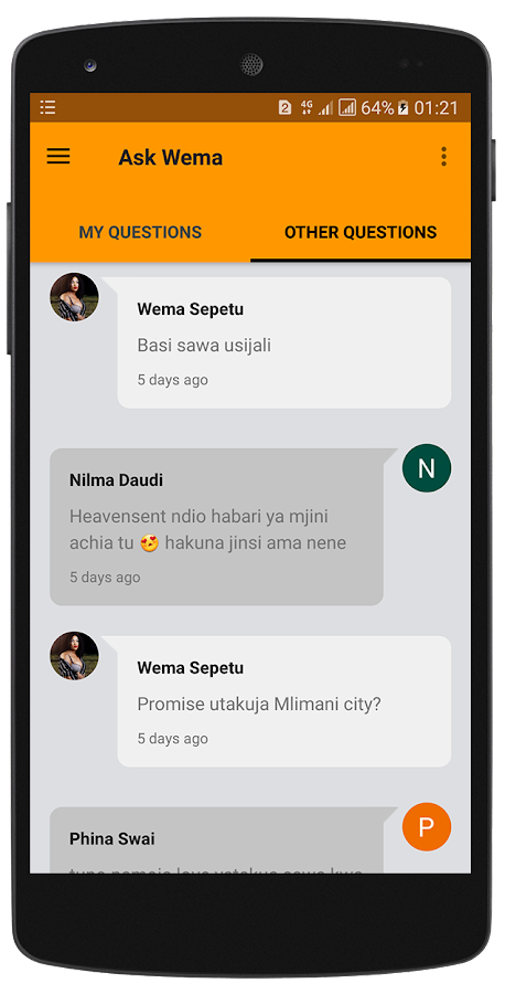 Wema Sepetu- screenshot