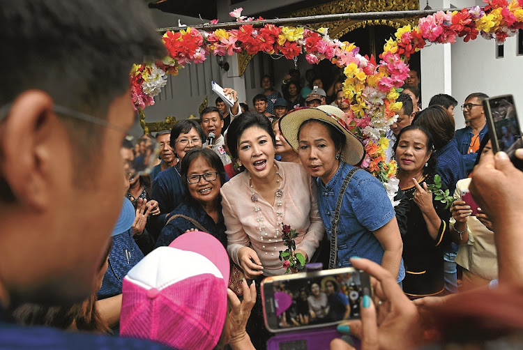 Yingluck Shinawatra. Picture: GALLO IMAGES/AFP/CHRISTOPHE ARCHAMBAULT