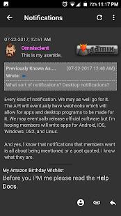 Hack Forums Mobile - náhled