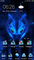 screenshot of Ice Wolf 3D Theme