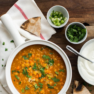 Curry Split Pea Soup with Carrots.