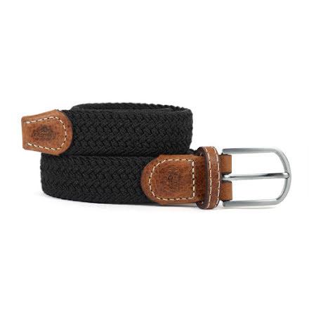BillyBelt Braid belt black licorice thin