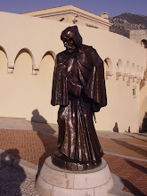 Photo: At the top, and this statue commemorating the taking of Monaco in 1297 by family members disguised as monks.