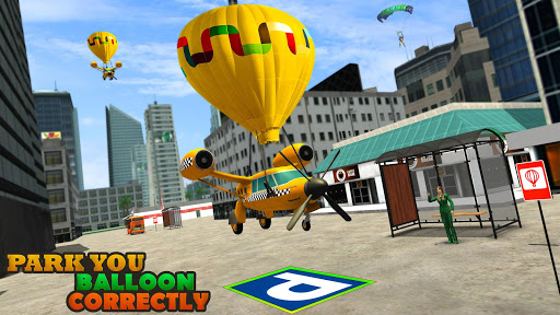 Flying Taxi Simulator: Air Balloon Taxi Driving 3D 1.0.3 screenshots 1