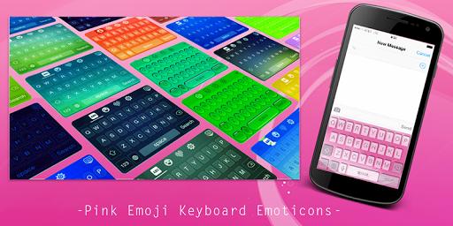 Pink Emoji Keyboard Emoticons