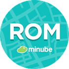 Rome guide in English with map icon