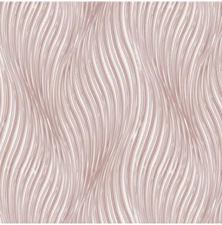 Debona Waves 5018, Tapet med vågformade linjer, Rosa/Vit