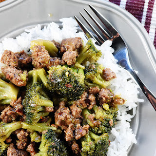 Ground Beef & Broccoli.