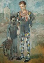 """Photo: Pablo Picasso, """"Due acrobati con il cane"""" (1905)"""
