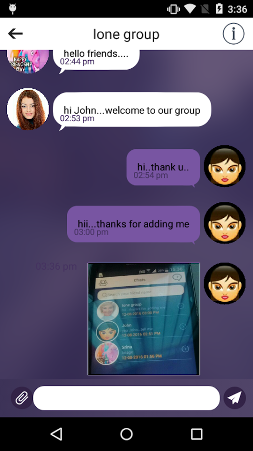 iOne – Online Chatting App- screenshot