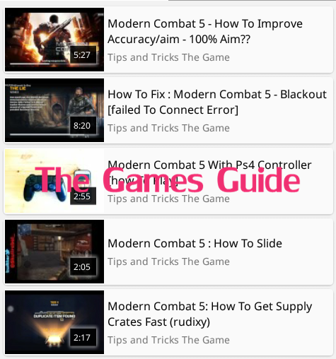 Guide Modern Combat 5 Blackout- screenshot