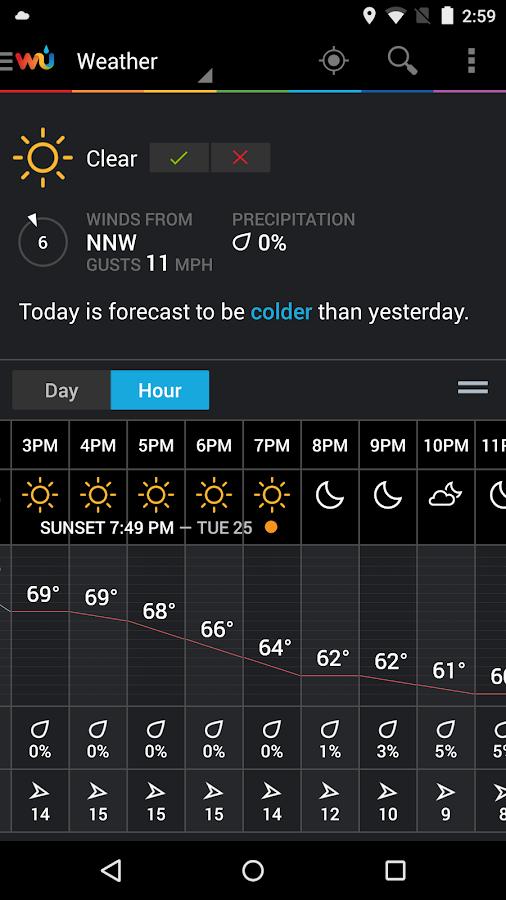 Weather Underground- screenshot