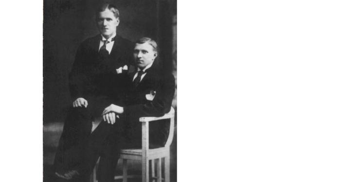 <p>Жуков (слева), 1913 год.</p>