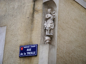 Photo: In medieval times, these statues in building walls were intended to provide special protection for those inside.