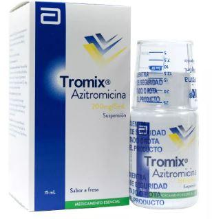 Azitromicina Tromix 200mg Suspensión Oral Frasco x15Ml. LAFRANCOL Azitromicina