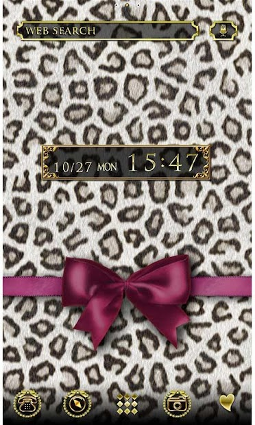 Fashion Theme Leopard & Ribbon Android App Screenshot