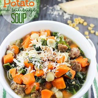 Sweet Potato & Sausage Soup - October Mystery Dish