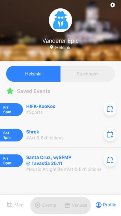 Event Tracker App- screenshot
