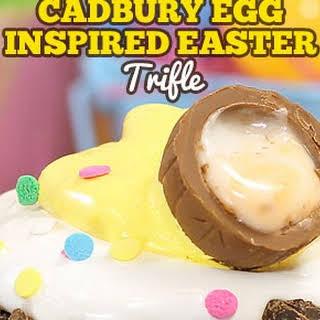 Cadbury Egg Inspired Easter Trifle.